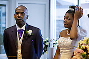 Julian & Chanel's Wedding Photography of their Wedding Service at the Christian Centre, Nottingham.