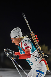 February 12, 2018 - Pyeongchang, Gangwon, South Korea - Krystyna Guzik of Poland competing at Women's 10km Pursuit, Biathlon, at olympics at Alpensia biathlon stadium, Pyeongchang, South Korea. on February 12, 2018. Ulrik Pedersen/Nurphoto  (Credit Image: © Ulrik Pedersen/NurPhoto via ZUMA Press)
