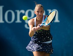 August 29, 2018 - Karolina Pliskova of the Czech Republic in action during her second-round match at the 2018 US Open Grand Slam tennis tournament. New York, USA. August 29th 2018. (Credit Image: © AFP7 via ZUMA Wire)
