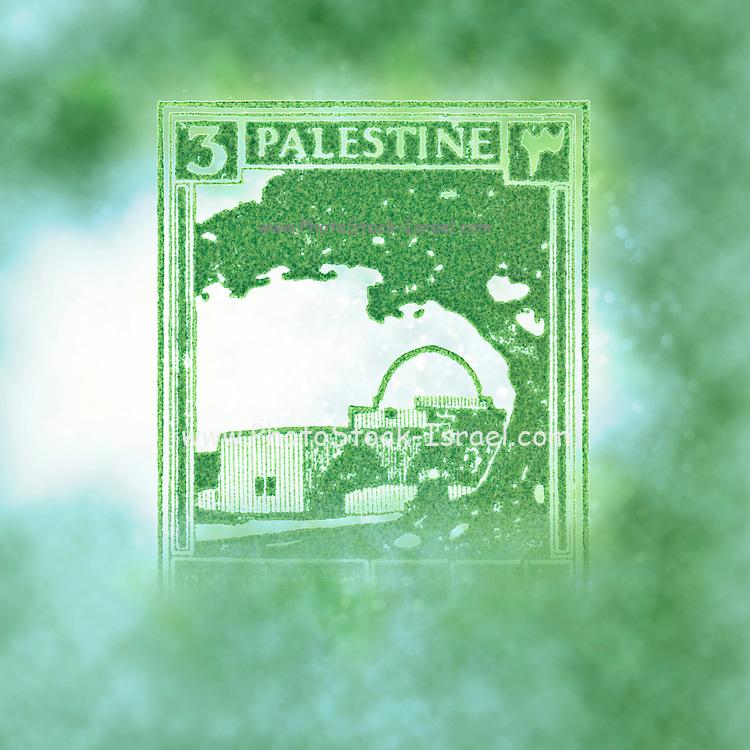 Palestine (British Mandate) pre 1948 stamp The green tomb of Rachel in Bethlehem