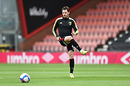 Adam Smith (15) of AFC Bournemouth warming up ahead of the EFL Sky Bet Championship match between Bournemouth and Stoke City at the Vitality Stadium, Bournemouth, England on 8 May 2021.