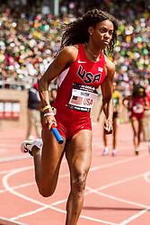 Penn Relays, USA vs the World, 4x400 relay, DeeDee Trotter, USA