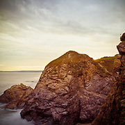 Sunset rocks, Hemmick Beach, Cornwall, 2008