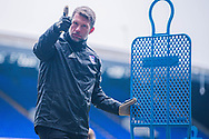 Ipswich Town Goalkeeper Coach James Walker with a thumbs up to the camera before the EFL Sky Bet League 1 match between Ipswich Town and Peterborough United at Portman Road, Ipswich, England on 23 January 2021