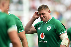 Tadhg Furlong of Ireland looks dejected after the match - Mandatory byline: Patrick Khachfe/JMP - 07966 386802 - 24/08/2019 - RUGBY UNION - Twickenham Stadium - London, England - England v Ireland - Quilter International