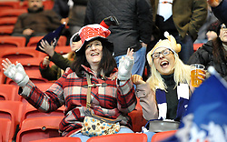 Rugby fans enjoying the atmosphere at Ashton Gate Stadium - Mandatory by-line: Paul Knight/JMP - 22/12/2017 - RUGBY - Ashton Gate Stadium - Bristol, England - Bristol Rugby v Cornish Pirates - Greene King IPA Championship