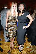 l to r: Aubrey O'Day and Egypt at The 2009 Fall Baby Phat Fashion Show held at Gotham Hall on February 17, 2009 in New York City.