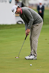 September 10, 2018 - Newtown Square, Pennsylvania, United States - Keegan Bradley putts the 18th green during the final round of the 2018 BMW Championship. (Credit Image: © Debby Wong/ZUMA Wire)