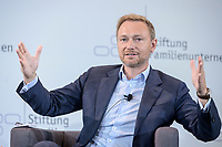 28 JUN 2019, BERLIN/GERMANY:<br /> Christian Lindner, FDP Bundesvorsitzender, waehrend einer Diskussion, Tag des Deutschen Familienunternehmens, Hotel Adlon<br /> IMAGE: 20190628-01-151