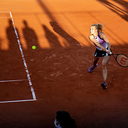 PARIS, FRANCE May 30.  Katerina Siniakova of the Czech Republic in action against Marie Bouzkovca of the Czech Republic in the first round of the Women's Singles competition on court thirteen at the 2021 French Open Tennis Tournament at Roland Garros on May 30th 2021 in Paris, France. (Photo by Tim Clayton/Corbis via Getty Images)
