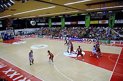 16-09-2006 BASKETBAL: NEDERLAND - ALBANIE: NIJMEGEN<br /> De basketballers hebben ook hun vierde wedstrijd in de kwalificatiereeks voor het Europees kampioenschap in winst omgezet. In Nijmegen werd een ruime overwinning geboekt op Albanie: 94-55 / Sporthal de Horstacker <br /> ©2006-WWW.FOTOHOOGENDOORN.NL