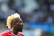 Adama Traore of Middlesbrough looks on.Premier league match, Swansea city v Middlesbrough at the Liberty Stadium in Swansea, South Wales on Sunday 2nd April 2017.<br /> pic by Andrew Orchard, Andrew Orchard sports photography.