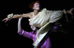 """Skufca and Venturini and """"the last dance"""" at """"goodbye"""" event of Slovenian professional sports dance couple Andrej Skufca and Katarina Venturini, named Infinity is Eternity (Neskoncnost je vecnost), on March 2, 2008, in Cankarjev dom, Ljubljana, Slovenia.  (Photo by Vid Ponikvar / Sportal Images)/ Sportida)"""