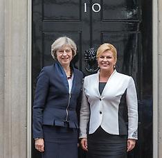 2016-10-11 Croatian President Kolinda Grabar-Kitarović  visits Downing Street