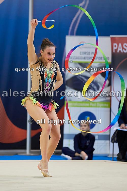 Asia Novelli from Etruria team during the Italian Rhythmic Gymnastics Championship in Padova, 25 November 2017.