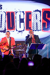 Luis Enrique & C4Trio perform onstage during the 9th Annual BMI & Rebeleon Entertainment's 'Los Producers Charity Concert' held at The Hard Rock Cafe on November 14, 2019 in Las Vegas, Nevada, United States (Photo by JC Olivera for BMI & Rebeleon Entertainment)