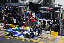 May 26, 2018 - Concord, North Carolina, United States of America - Matt Tifft (2) brings his car down pit road for service during the Alsco 300 at Charlotte Motor Speedway in Concord, North Carolina. (Credit Image: © Chris Owens Asp Inc/ASP via ZUMA Wire)