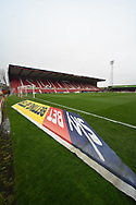 SkyBET 3D mat at the away end at The County Ground before the EFL Sky Bet League 2 match between Swindon Town and Yeovil Town at the County Ground, Swindon, England on 10 April 2018. Picture by Graham Hunt.