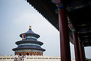 The Temple of Heaven, literally the Altar of Heaven (simplified Chinese: 天坛 ; pinyin: Tiāntán) is seen in Beijing, China, July 20, 2014.<br /> <br /> Confucianism, Taoism and Buddhism are the three major religions in China. Temples and statues witness their ancient roots all over the Chinese country.<br /> <br /> © Giorgio Perottino