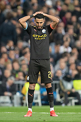 Manchester City's Riyad Mahrez during the UEFA Champions League round of 16 first leg match Real Madrid v Manchester City at Santiago Bernabeu stadium on February 26, 2020 in Madrid, Sdpain. Real was defeated 1-2. Photo by David Jar/AlterPhotos/ABACAPRESS.COM