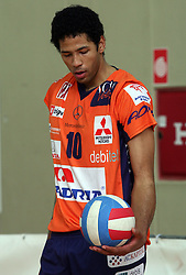 Delano Thomas of ACH Volley at 4th and final match of Slovenian Voleyball  Championship  between OK Salonit Anhovo (Kanal) and ACH Volley (from Bled), on April 23, 2008, in Kanal, Slovenia. The match was won by ACH Volley (3:1) and it became Slovenian Championship Winner. (Photo by Vid Ponikvar / Sportal Images)/ Sportida)
