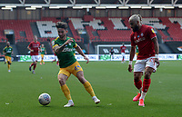 Preston North End's Sean Maguire turns away from Bristol City's Ashley Williams<br /> <br /> Photographer Ian Cook/CameraSport<br /> <br /> The EFL Sky Bet Championship - Bristol City v Preston North End - Wednesday July 22nd 2020 - Ashton Gate Stadium - Bristol <br /> <br /> World Copyright © 2020 CameraSport. All rights reserved. 43 Linden Ave. Countesthorpe. Leicester. England. LE8 5PG - Tel: +44 (0) 116 277 4147 - admin@camerasport.com - www.camerasport.com