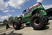 MONSTER TRUCK_Grave Digger prior to the Monster Truck Challenge at the Orange County (NY) Fair Speedway.