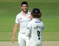 Hamish Marshall of Gloucestershire celebrates as he catches out Graeme White of Northamptonshire bowled by Benny Howell of Gloucestershire  - Photo mandatory by-line: Dougie Allward/JMP - Mobile: 07966 386802 - 08/07/2015 - SPORT - Cricket - Cheltenham - Cheltenham College - LV=County Championship 2