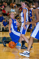 16 June 2012: Samantha Ellsworth guarded by Monica Hinderer. Illinois Basketball Coaches Association (IBCA) Girls All Star game at the Shirk Center in Bloomington IL