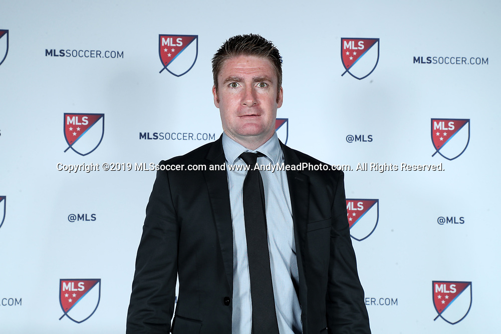 CHICAGO, IL - JANUARY 11: Orlando City SC head coach James O'Connor. The MLS SuperDraft 2019 presented by adidas was held on January 11, 2019 at McCormick Place in Chicago, IL.
