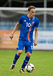RHYL, WALES - Monday, September 4, 2017: Iceland's Guðmundur Andri Tryggvason during an Under-19 international friendly match between Wales and Iceland at Belle Vue. (Pic by Paul Greenwood/Propaganda)