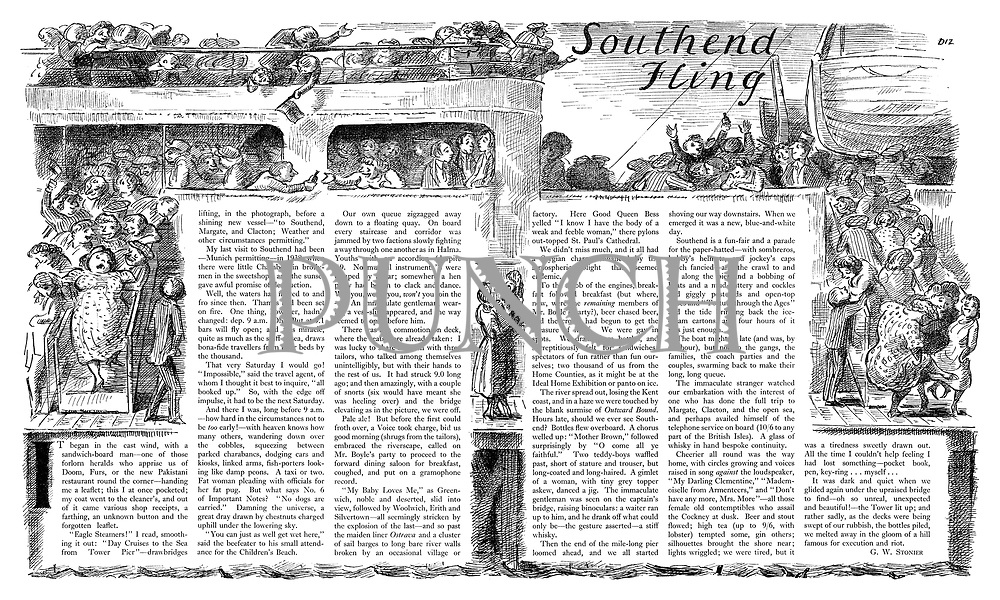 Southend Fling. (an illustrated article about a day trip from Southend-on-Sea)