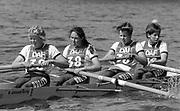 Kingston on Thames, United Kingdom.  OUWBC, Stroke, Ali GILL,   The final Round of the Leyland Daf Sprint series, at Kingston RC on the River Thames, Surrey, England, <br /> <br /> Saturday 04.05.1987<br /> <br /> [Mandatory Credit; Peter Spurrier/Intersport-images] 1987 Leyland Daf Sprints, Kingston. UK