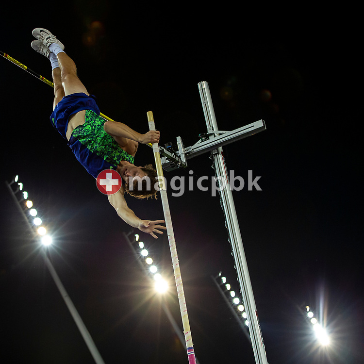 Cole WALSH of United States of America (USA) competes in the Men's Pole Vault during the Iaaf Diamond League meeting (Weltklasse Zuerich) at the Letzigrund Stadium in Zurich, Switzerland, Thursday, Aug. 29, 2019. (Photo by Patrick B. Kraemer / MAGICPBK)