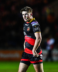 Dragons' Arwel Robson<br /> <br /> Photographer Craig Thomas/Replay Images<br /> <br /> Guinness PRO14 Round 18 - Dragons v Cheetahs - Friday 23rd March 2018 - Rodney Parade - Newport<br /> <br /> World Copyright © Replay Images . All rights reserved. info@replayimages.co.uk - http://replayimages.co.uk