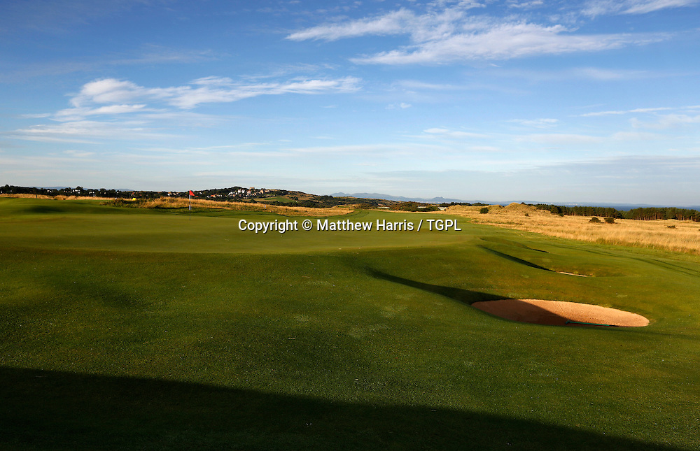 5th par 5 Muirfield,The Honourable Company Of Edinburgh Golfers,Gullane,East Lothian,Scotland.Venue for the 2013 Open Championship,with Ernie ELS (RSA) defending his title,and who was also the winner here in 2002.