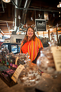 2017 DECEMBER 05 - Erin Andrews, owner of Indi Chocolate at Pike Place Market, Seattle, WA, USA. By Richard Walker