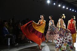 September 12, 2018 - New York, New York, U.S - September, 2018 - New York, New York  U.S. - Models on the runway at the CHIARA BONI LA PETITE ROBE S/S 2019 RTW show during New York Fashion Week 2018.  (Credit image (c) Theano Nikitas/ZUMA Wire/ZUMAPRESS.com (Credit Image: © Theano Nikitas/ZUMA Wire)
