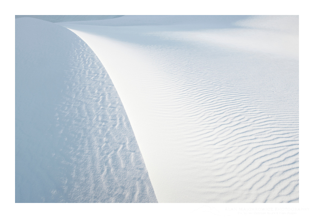Abstract patterns and ripples on gypsum sand dunes, White Sands National Monument, New Mexico