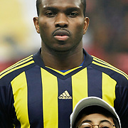 Fenerbahce's Joseph Michael YOBO during their Turkish superleague soccer derby match Galatasaray between Fenerbahce at the Turk Telekom Arena in Istanbul Turkey on Friday, 18 March 2011. Photo by TURKPIX