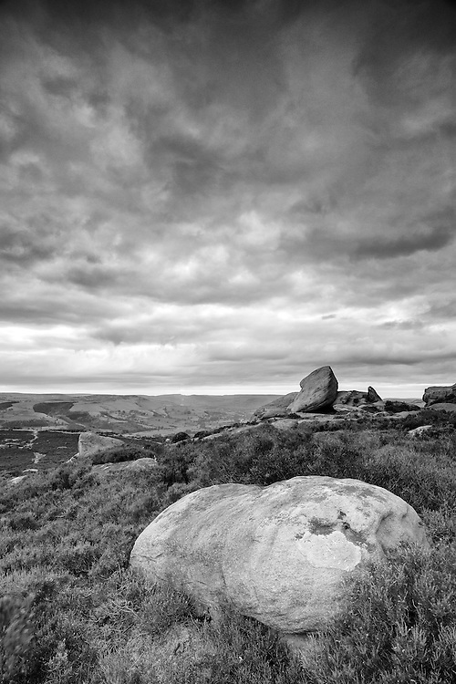 Cloudy day in the Peak District National Park.