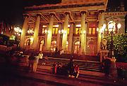 16 JANUARY 2002, GUANAJUATO, GUANAJUATO, MEXICO: The Teatro Juarez near Plaza Union Jardin in the city of Gunajuato, state of Guanajuato, Mexico, Jan. 16, 2002.  .PHOTO BY JACK KURTZ