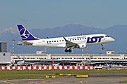 SP-LIB LOT - Polish Airlines / Polskie Linie Lotnicze, Embraer ERJ-175STD at Malpensa (MXP / LIMC), Milan, Italy