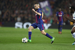 March 14, 2018 - Barcelona, Spain - JORDI ALBA of FC Barcelona during the UEFA Champions League, round of 16, 2nd leg football match between FC Barcelona and Chelsea FC on March 14, 2018 at Camp Nou stadium in Barcelona, Spain (Credit Image: © Manuel Blondeau via ZUMA Wire)