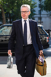 © Licensed to London News Pictures. 21/05/2019. London, UK. Secretary of State for Environment, Food and Rural Affairs Michael Gove arrives for the Cabinet meeting. Prime Minister Theresa May is expected to seek support for proposed changes to the Withdrawal Agreement Bill before it is brought back before Parliament. Photo credit: Rob Pinney/LNP