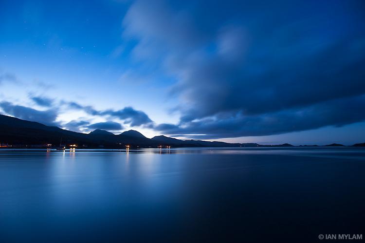 Dusk over the Isle of Jura, Scotland