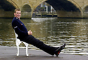 2004_ Matt Pinsent Retirement Press Conference - Leander Club -  Henley on Thames...Matt Pinsent, comfirmed this morning,[10am Tues. 30.1.2004] at the a press conference held at Leander. that the Olympic M4- final was his last race in a GB vest...30.11.2004 Photo  Peter Spurrier.