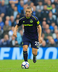 """Everton's Nikola Vlasic during the Premier League match at the AMEX Stadium, Brighton. PRESS ASSOCIATION Photo. Picture date: Sunday October 15, 2017. See PA story SOCCER Brighton. Photo credit should read: Gareth Fuller/PA Wire. RESTRICTIONS: EDITORIAL USE ONLY No use with unauthorised audio, video, data, fixture lists, club/league logos or """"live"""" services. Online in-match use limited to 75 images, no video emulation. No use in betting, games or single club/league/player publications."""