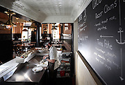 Master shucker Matt Balikov works the oyster bar Tuesday, March 25, 2014 at Pearl Tavern. (Brian Cassella/Chicago Tribune) B583619996Z.1 <br /> ....OUTSIDE TRIBUNE CO.- NO MAGS,  NO SALES, NO INTERNET, NO TV, CHICAGO OUT, NO DIGITAL MANIPULATION...