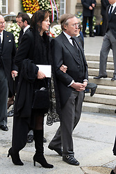 Prince Jean of Luxembourg and Countess Diane of Nassau get out the cathedral Notre-Dame after the funeral of Grand Duke Jean of Luxembourg on May 4, 2019 in Luxembourg City, Luxembourg.<br /> Grand Duke Jean of Luxembourg has died at 98, April 23, 2019.<br /> (Photo by David Niviere/ABACAPRESS.COM)
